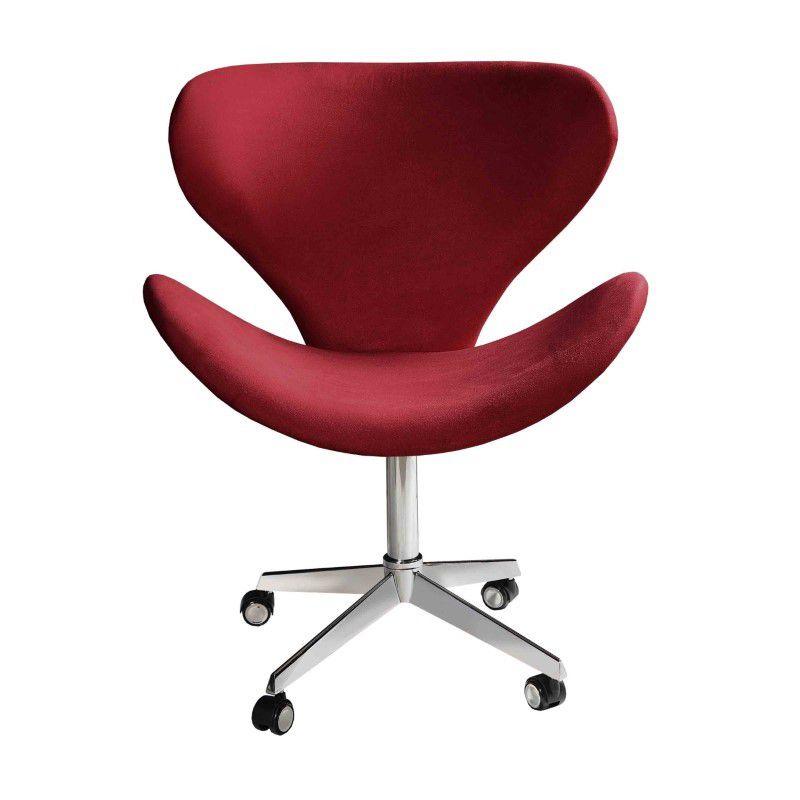 Cadeira Decorativa Escritorio Swan com Rodizio Bella Decor