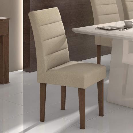 Conjunto 2 Cadeiras Fiorella Veludo Creme Lopas