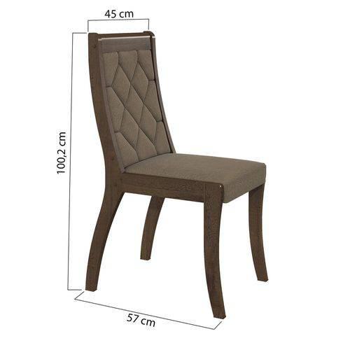 Conjunto 2 Cadeiras Merengue Suede Bege Lopas