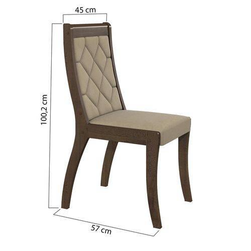 Conjunto 2 Cadeiras Merengue Veludo Creme Lopas