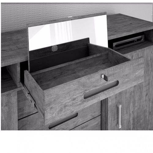 Cômoda com Espelho 5 Gavetas e Cabideiro Essencial - Valdemóveis