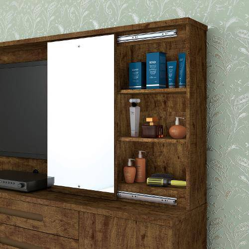 Cômoda Zeus Com Espelho e Painel para TV - Valdemóveis