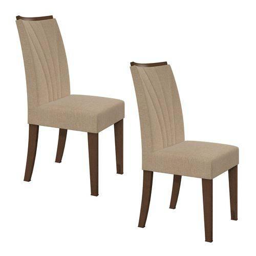 Conjunto 2 Cadeiras Apogeu Linho Bege Lopas