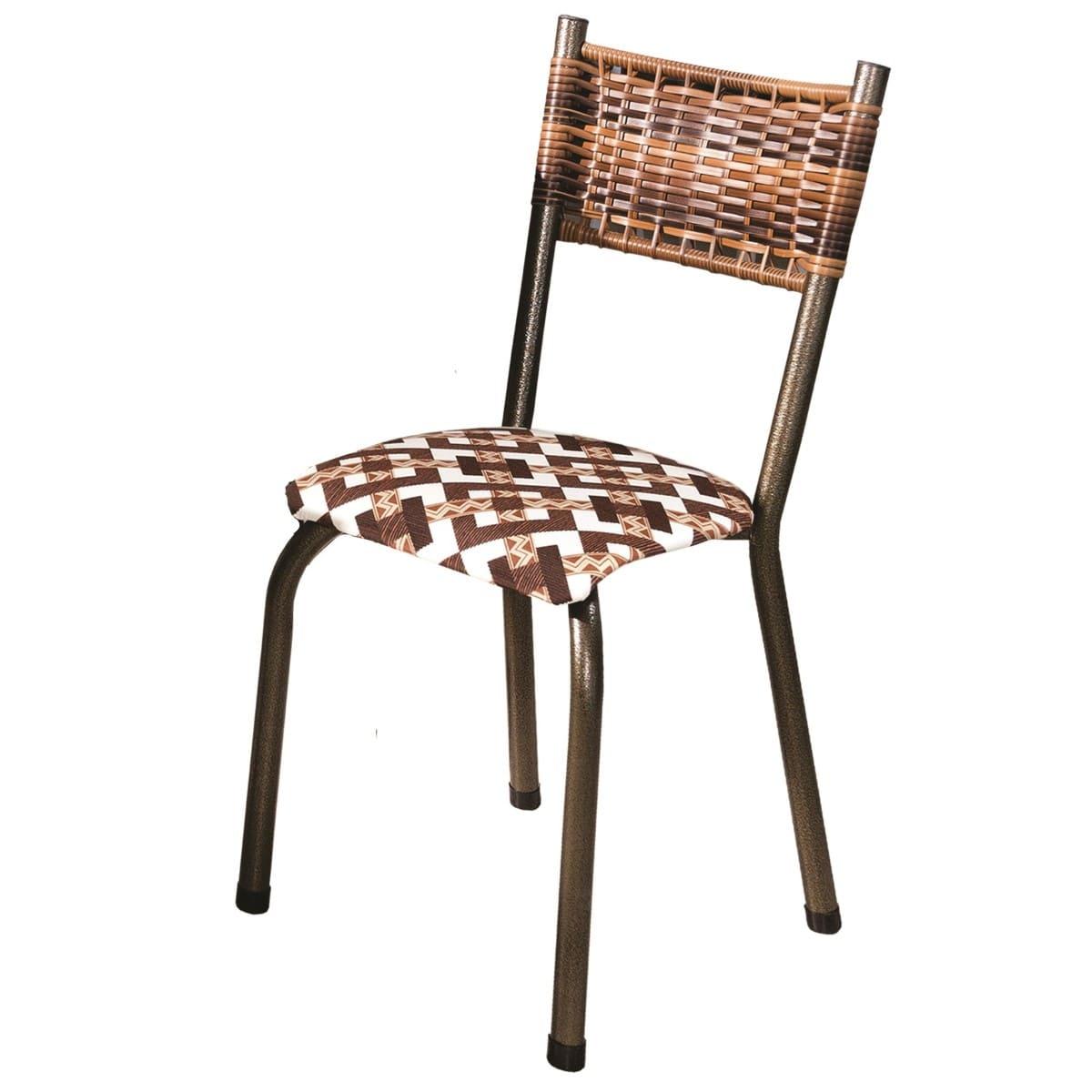 Conjunto 4 Cadeiras Colorado em Tecido Tubulares Gol