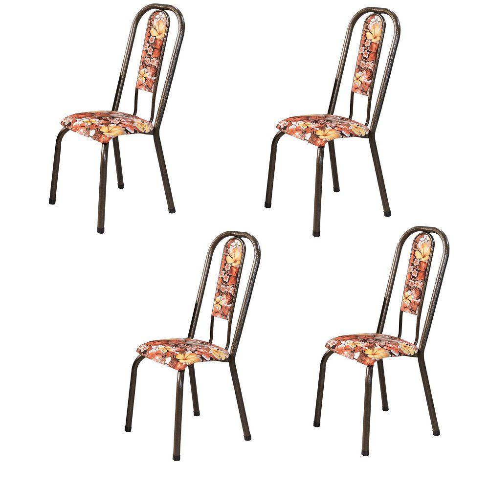 Conjunto 4 Cadeiras Fortaleza em Tecido Tubulares Gol
