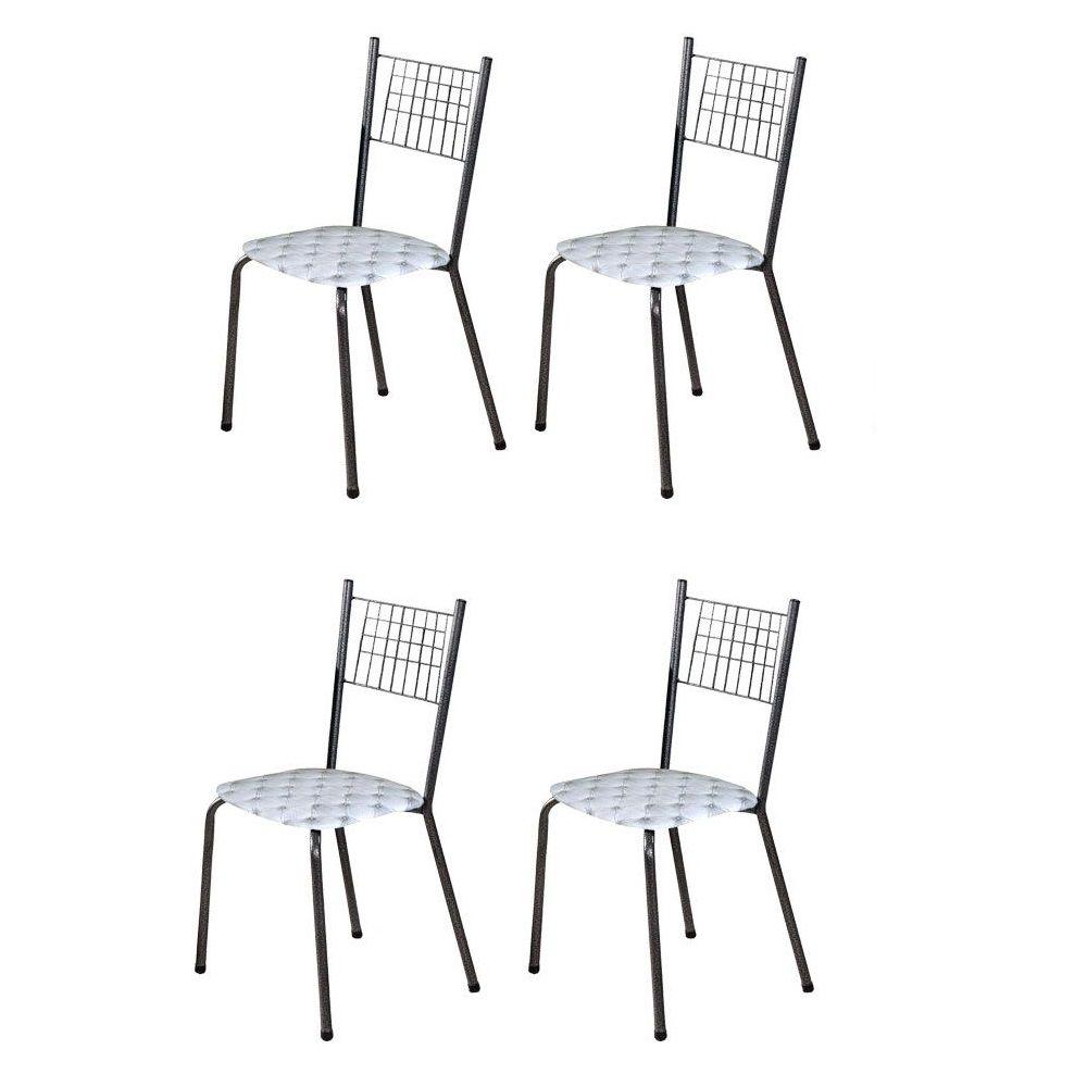 Conjunto 4 Cadeiras Onix Tubulares Gol