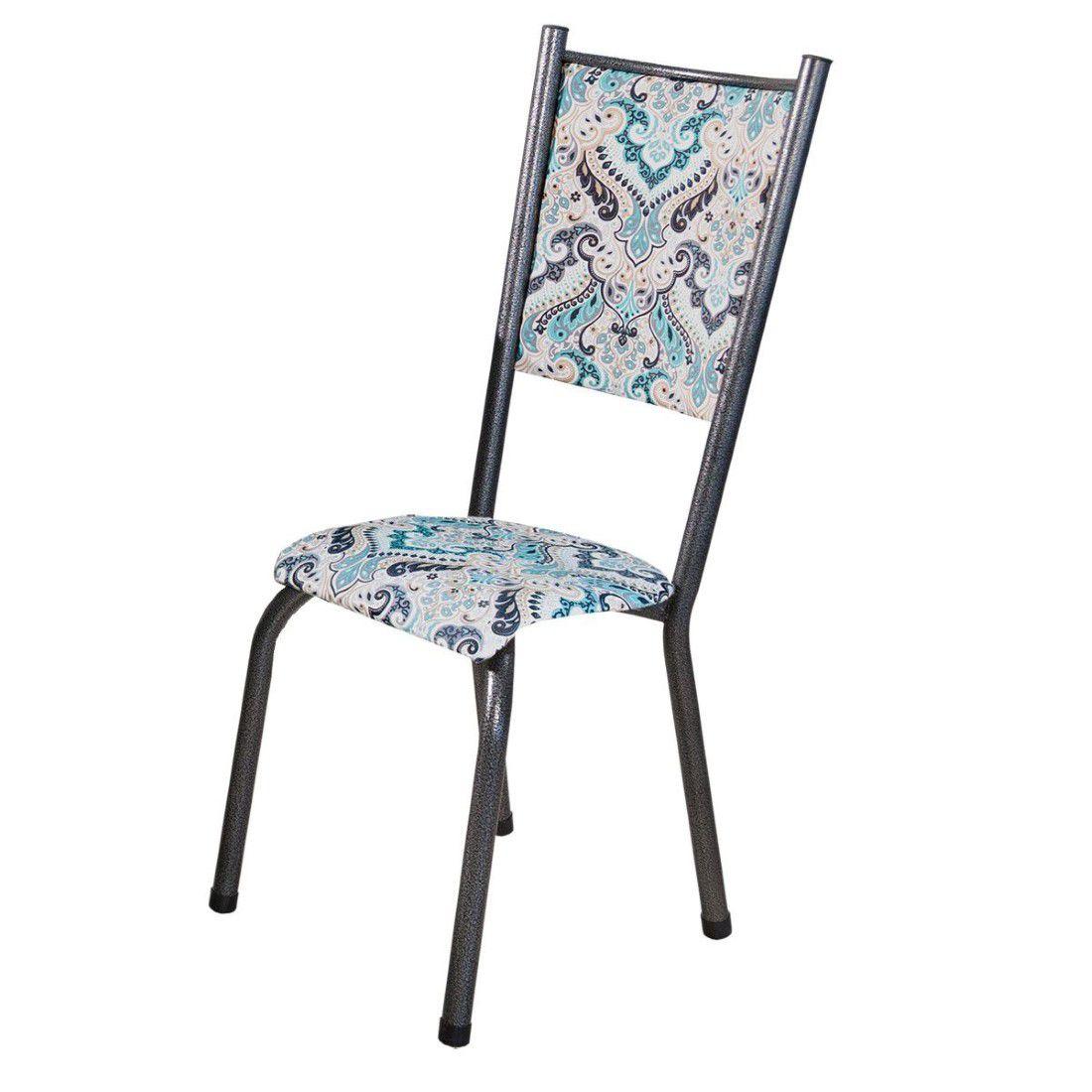Conjunto 6 Cadeiras Ametista em Tecido Tubulares Gol