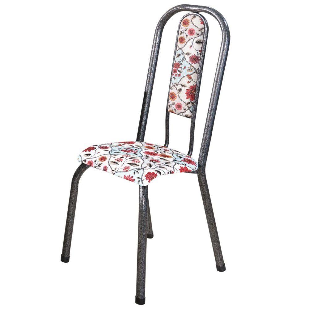 Conjunto 6 Cadeiras Fortaleza em Tecido Tubulares Gol