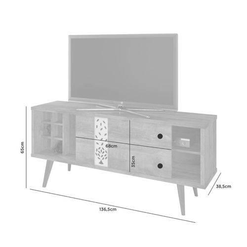 Conjunto Retrô para TV: Rack Ciclone e Mesa de Centro Brisa - JCM Movelaria