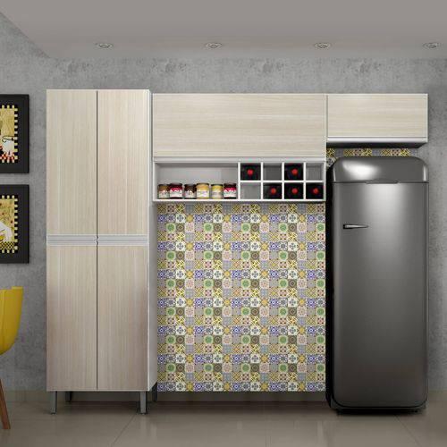 Cozinha Compacta Florença 3 Peças Nicho e Adega Sallêto
