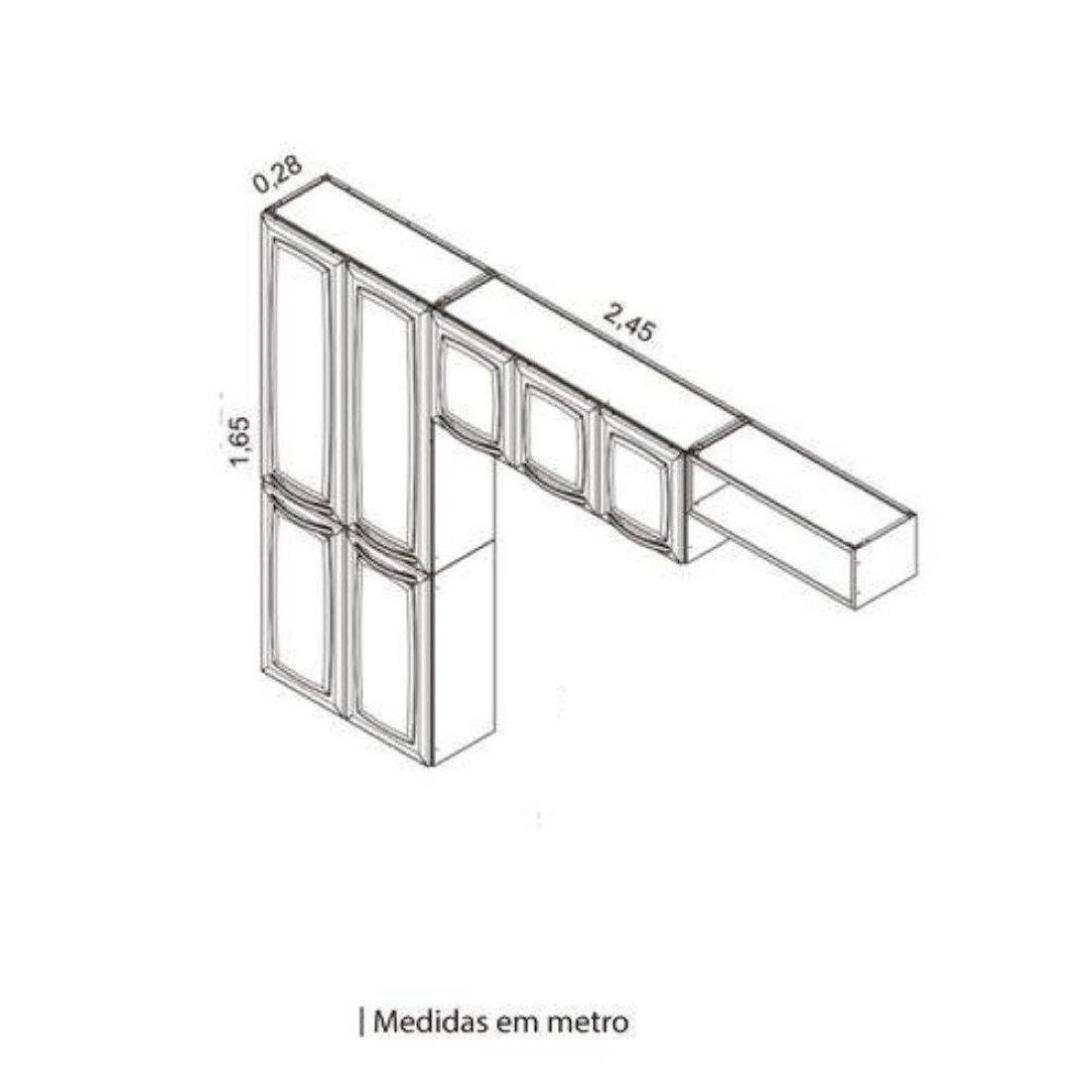 Cozinha Compacta Rose 07 Portas Itatiaia