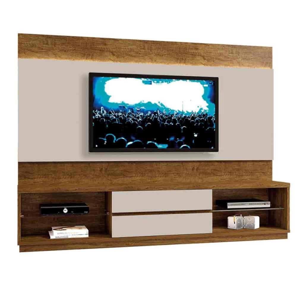 """Home Istambul para TV até 65"""" prateleiras em vidro Mavaular"""