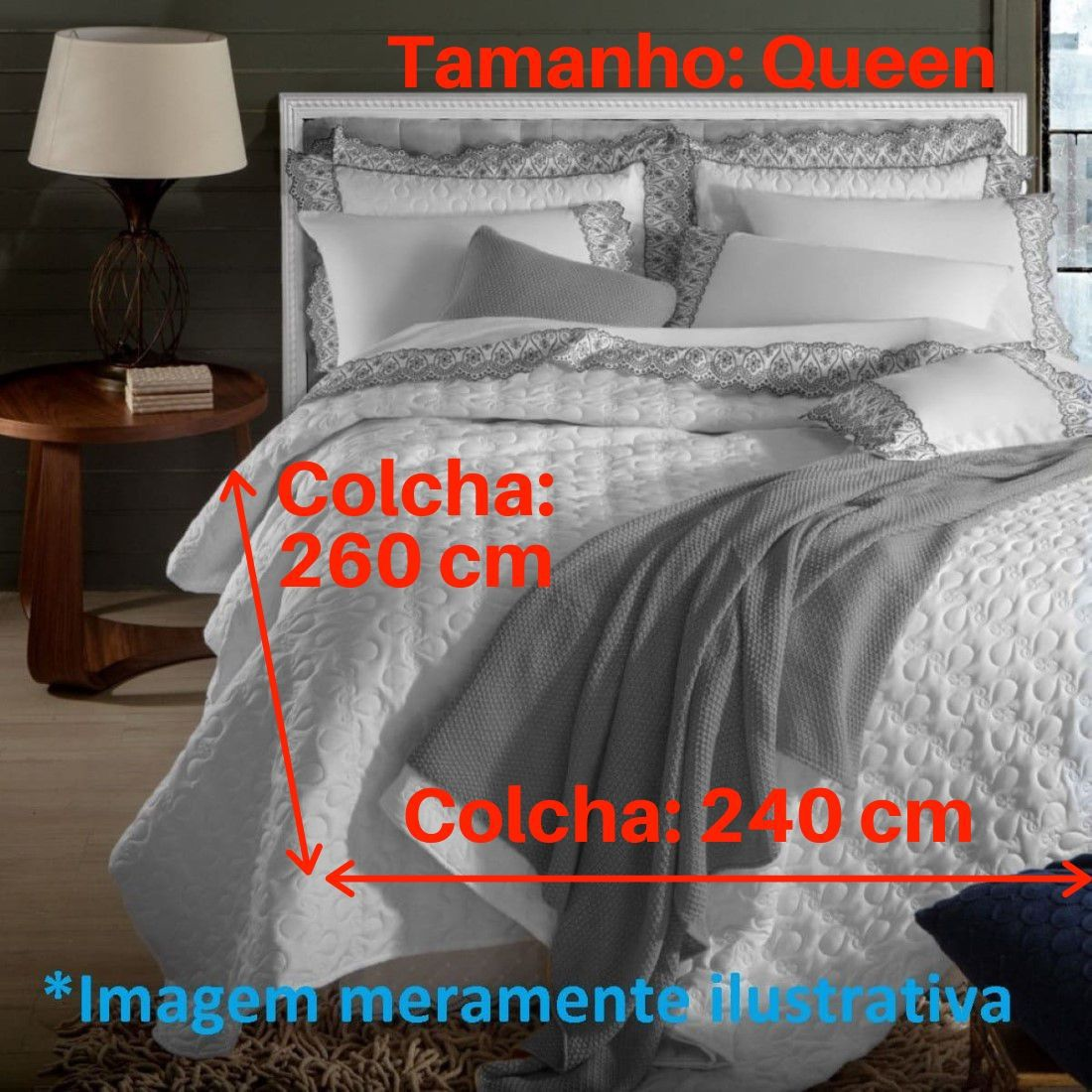 Jogo de Cama Queen 5 peças Anne Marken Fassi