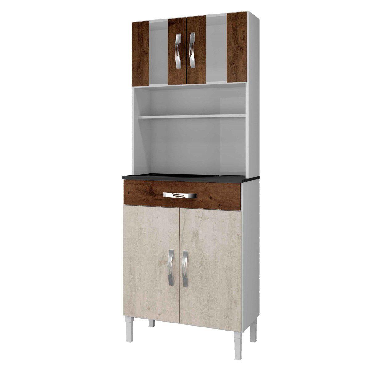 Kit Cozinha Milão 04 Portas e 01 Gaveta Arte Móveis