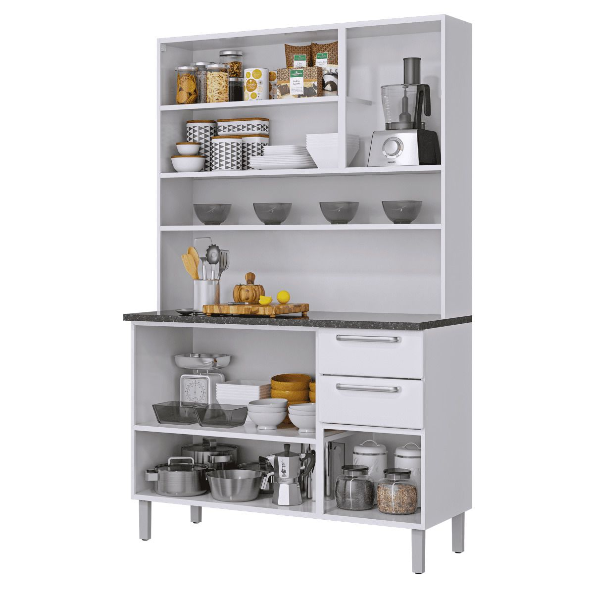 Kit Cozinha Regina 120 06 Portas e 02 Gavetas Itatiaia