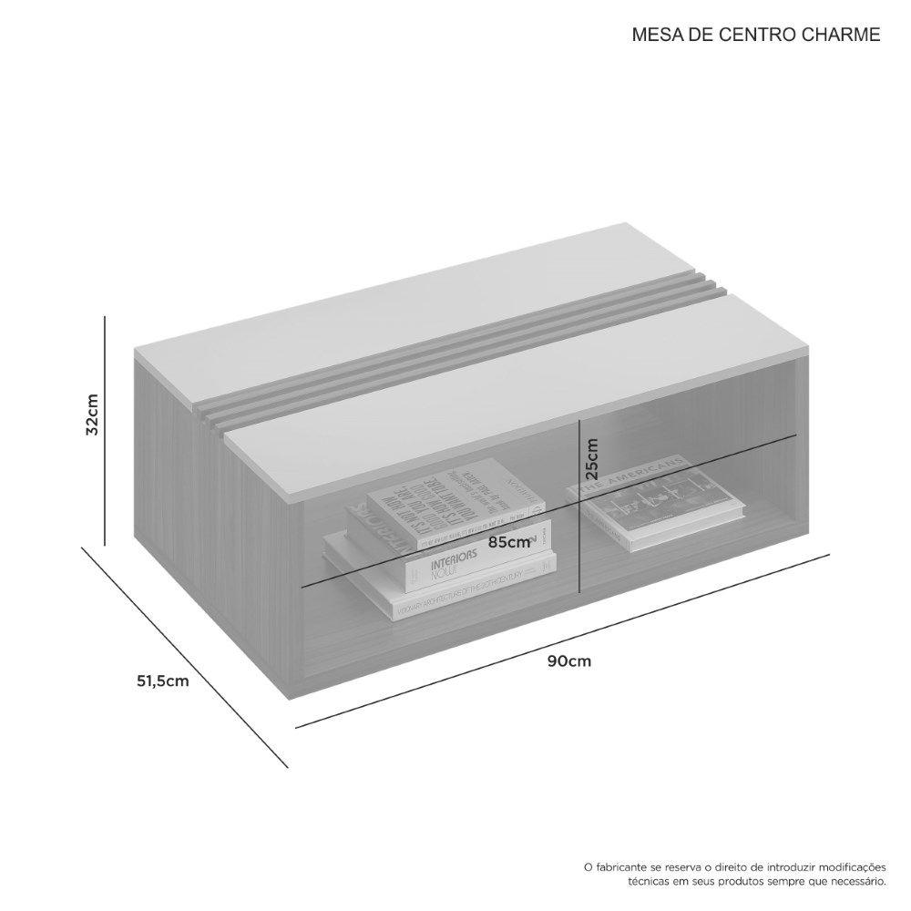Mesa de Centro Charme JCM Movelaria