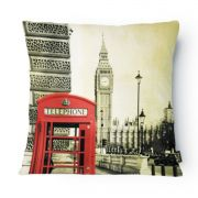 Almofada Tecido Nobre Design Londres 43X43 CM