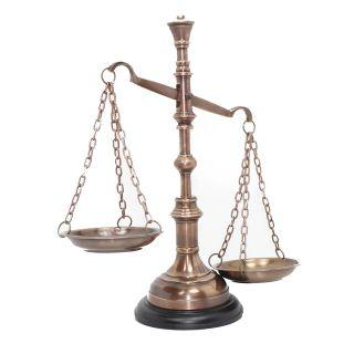 Balança Bronze Luxo p/ Decoração Simbolo da Justiça
