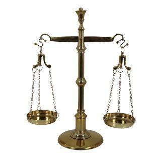 Balança Dourada Luxo p/ Decoração Simbolo da Justiça