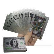 Baralho Prata a Prova D'água Benjamin Franklin  N°1 com 52 cartas