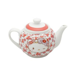 Bule Porcelana Frida Kahlo Purple Lace Hello Kitty 800ml