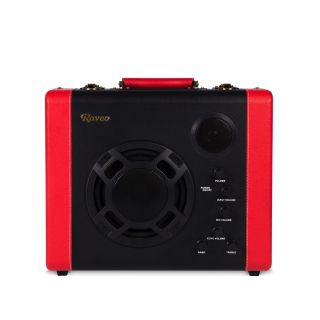 Caixa Amplificada Raveo Pulse Bivolt Bluetooth 30w Bluetooth Red