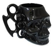 Caneca Caveira Crânio Soco Inglês 3D 480 ml Black & Blue