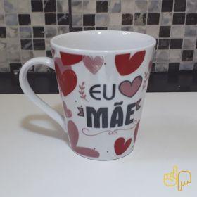 Caneca Cerâmica Personalizada Mãe Te Amo 290ml