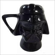 Caneca com Tampa Capacete Darth Vader Star Wars 3D