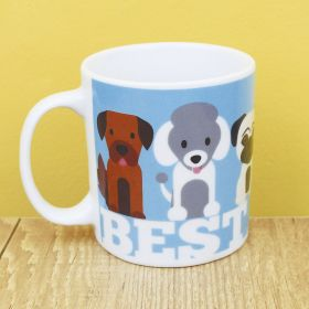 Caneca de Porcelana Criativa Best Friend 300ML