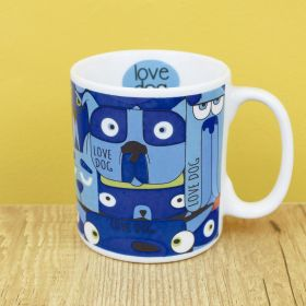 Caneca de Porcelana Criativa Love Dog 300ML