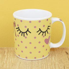 Caneca de Porcelana Criativa - Sorriso é a Melhor Maquiagem 300ML