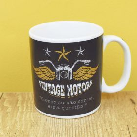 Caneca de Porcelana Criativa Vintage Motors 300ML