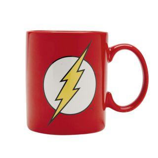 Caneca Porcelana WB DC OR The Flash Logo Oficial 300ml Vermelho