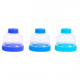 Conjunto C/ 3 Potes Azul BabyGo Premium