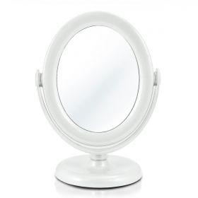 Espelho de Mesa Dupla Face Make Branco Awa17152 Jacki Design