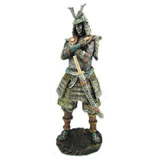 Estatua Decorativa Guerreiro Samurai
