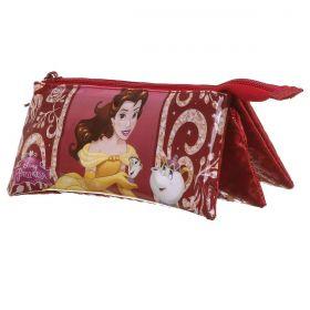 Estojo Soft 3 Divisões Princesa Bela Oficial Disney