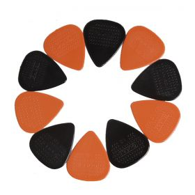 Kit 10 Palhetas Violão Standard ultra Grip 1MM Nylon Black e Orange