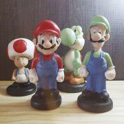 Kit Colecionável  Mario Bross, Luigi, Yoshi e Toad