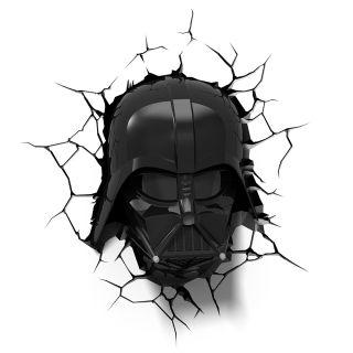 KIT Luminária Mascara 3D + Sabre Darth Vader frete gratis
