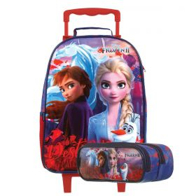 Kit Mochilete Escolar Frozen II My Destiny is Calling Disney + Estojo