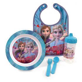 Kit Oficial a Hora da Papinha Frozen II c/ Babador BabyGo 1284