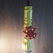 Luminária Pendente Design Exclusivo Cano de Metal Amarelo