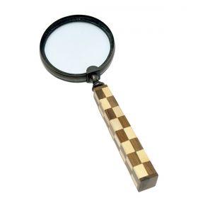 Lupa Decorativa Marchetada Luxo Chess - Verito