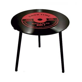 Mesa de Apoio Modelo LP - Vinil Good Time Red 40x40x40cm