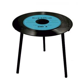 Mesa de Apoio Modelo LP - Vinil Keep it Clean Blue 40x40x40cm