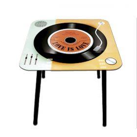 Mesa de Apoio Quadrada Vintage Relax Enjoy 40x40x40cm