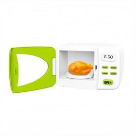Microondas Infantil Vamos Cozinhar Verde e Branco Belfix