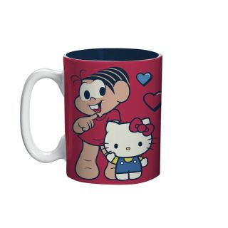 Mini Caneca Hello Kitty Turma Da Monica Girls Rainbow Oficial 135ml